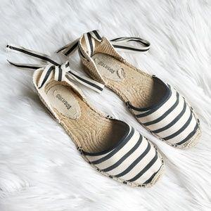 Soludos Classic Sandal Stripe Ankle Tie Espadrille